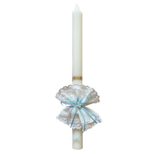 Krikštynų žvakės papuošimas